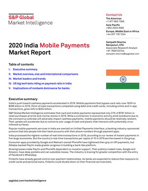 S&P Global:2020 India Mobile Payments Market Report